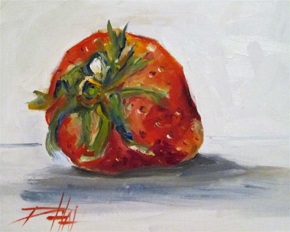 """""""One Strawberry"""" original fine art by Delilah Smith"""