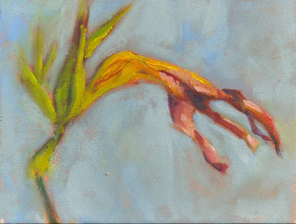 """Withering Tiger Lily"" original fine art by Marlene Lee"