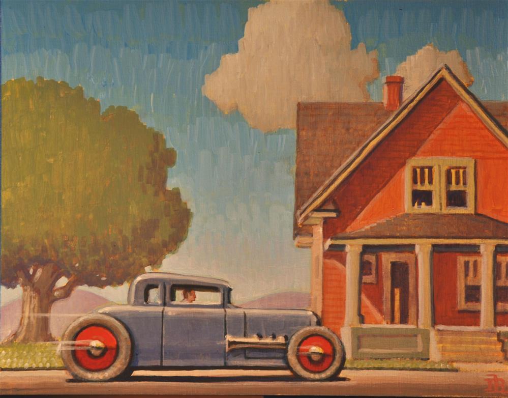 """Hot Rod coupe"" original fine art by Robert LaDuke"
