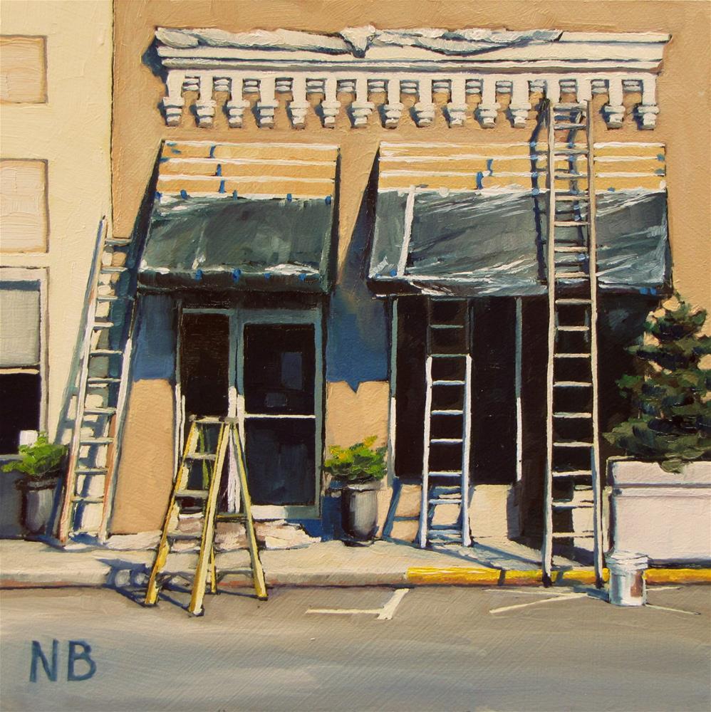 """""""Work In Progress"""" original fine art by Nora Bergman"""