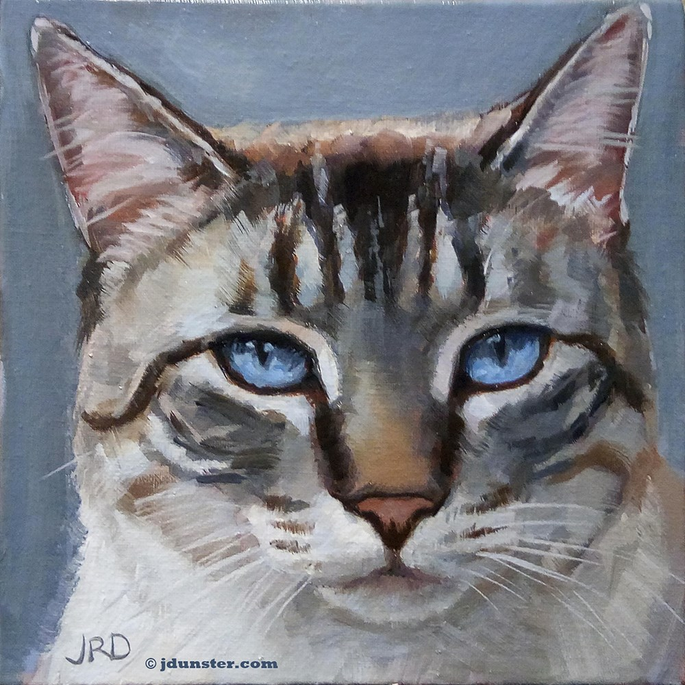 """Disapproving Kitty"" original fine art by J. Dunster"