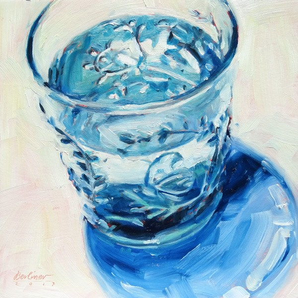 """295 Wasserblau"" original fine art by Anja Berliner"