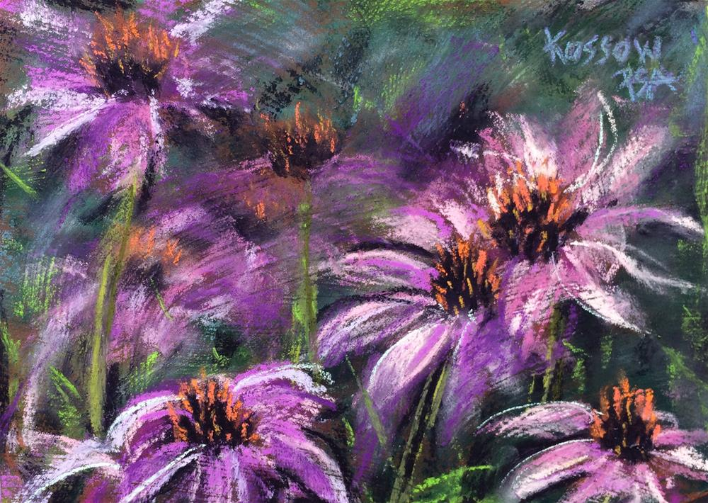 """Echinacea Dream"" original fine art by Cristine Kossow"