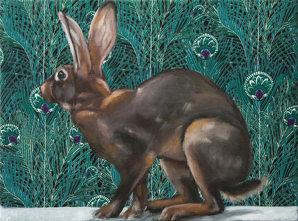 """Belgian Hare"" original fine art by Clair Hartmann"