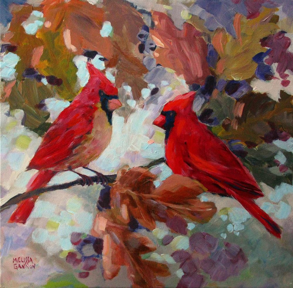 """""""Oak Leaf Swirl"""" original fine art by Melissa Gannon"""