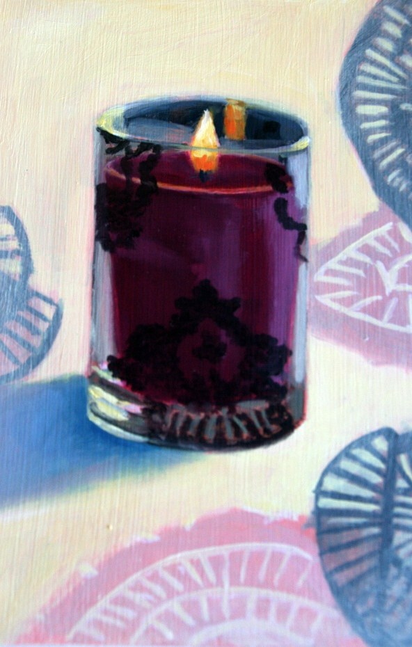 """Plum Pleasure"" original fine art by Annie Dover"