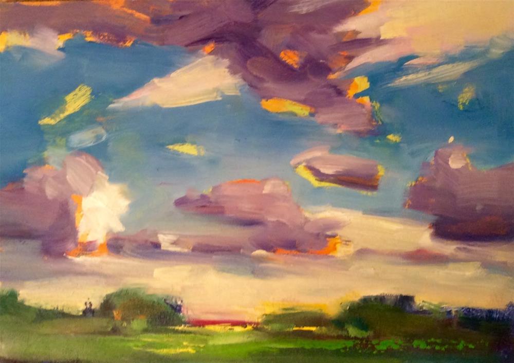 """"""" SKY WAY """" original fine art by Doug Carter"""