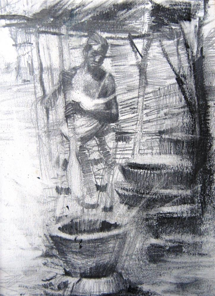 """The Human Machine"" original fine art by Adebanji Alade"
