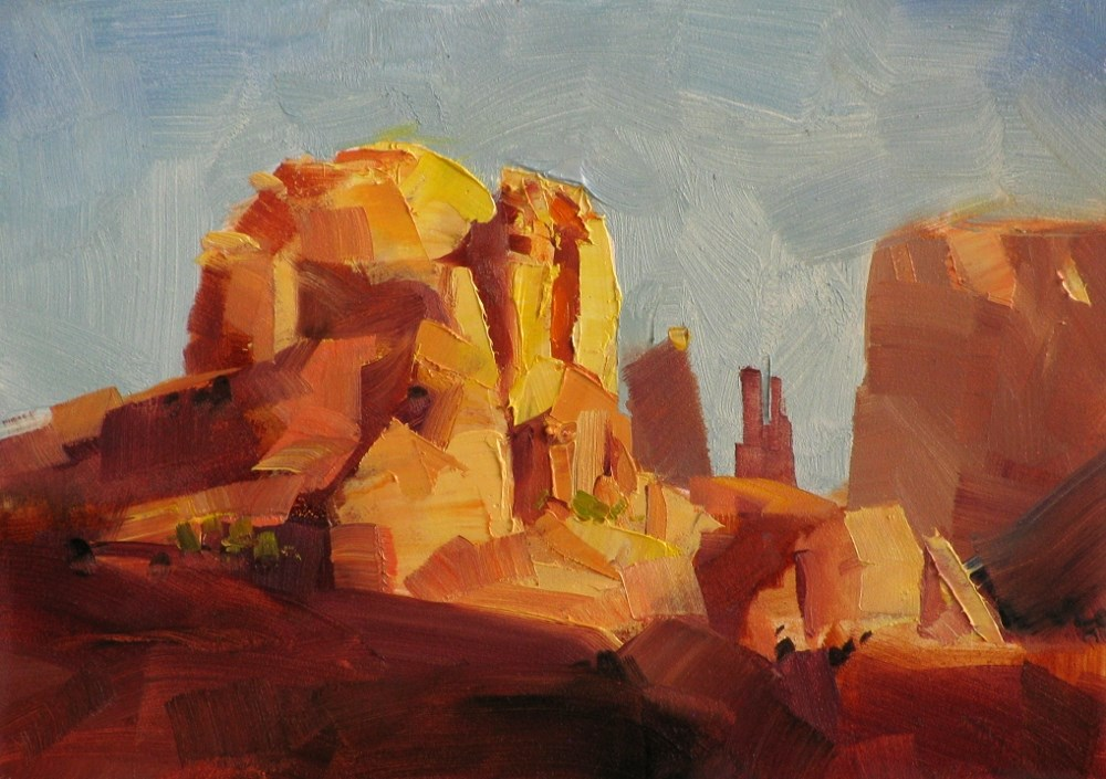 """""""Cathedral Rock"""" original fine art by Qiang Huang"""