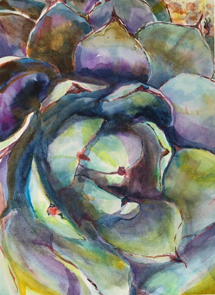 """Desert Botanical Garden"" original fine art by Jean Krueger"