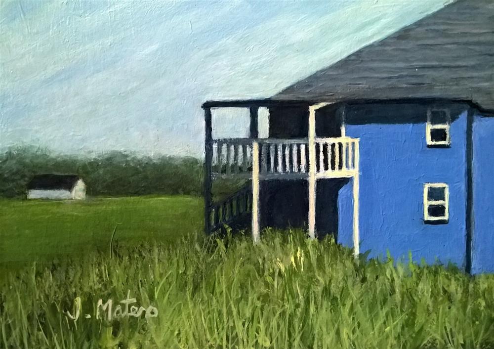 """Summer Rental"" original fine art by Joan Matero"