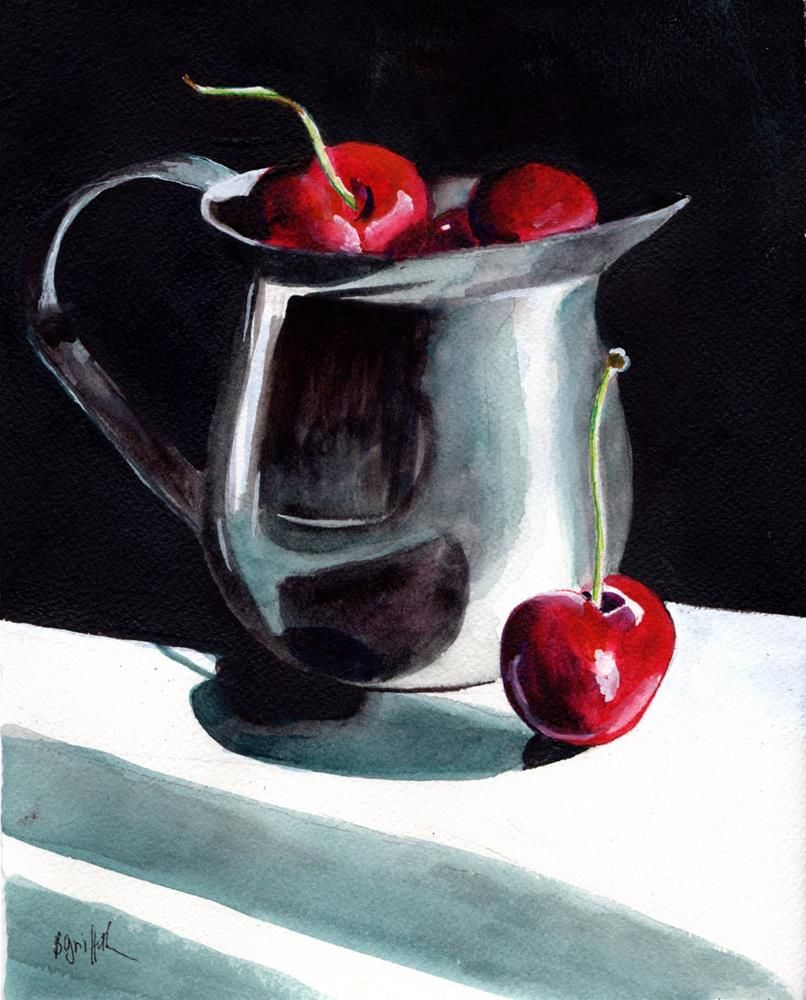"""Cherries"" original fine art by Bunny Griffeth"