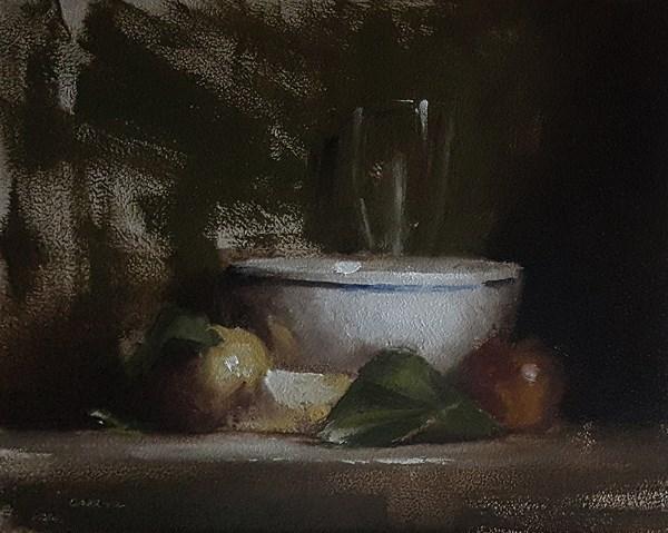 """""""Arrangement with Bowl"""" original fine art by Neil Carroll"""