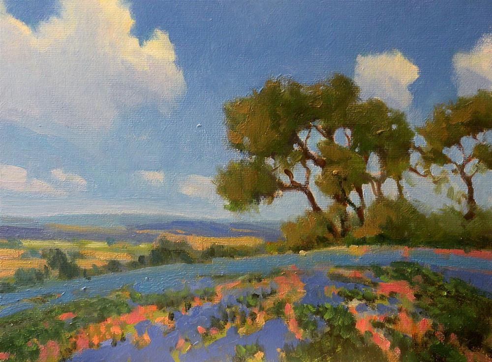 """Hilltop View"" original fine art by David Forks"