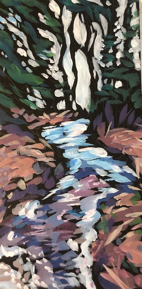 """Croftville Roadside Creek"" original fine art by Kat Corrigan"