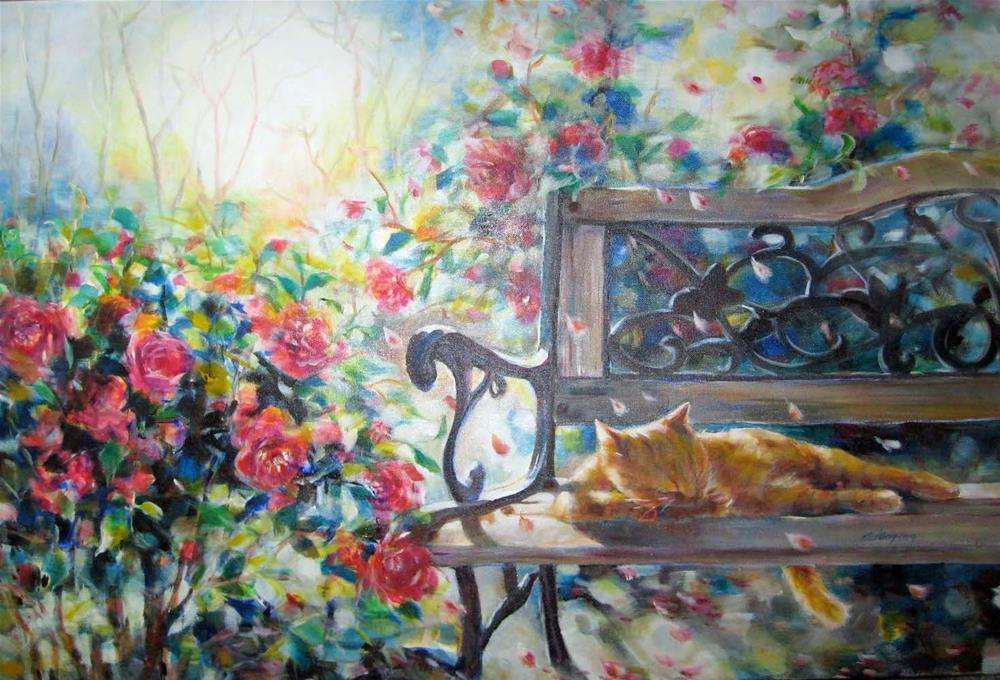 """Lazy spring afternoon"" original fine art by Wenqing Xu"