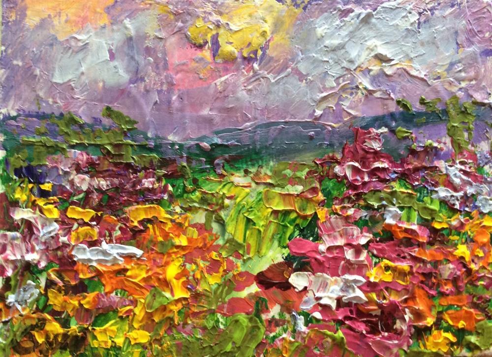 """Flowers of Provence"" original fine art by Sonia von Walter"