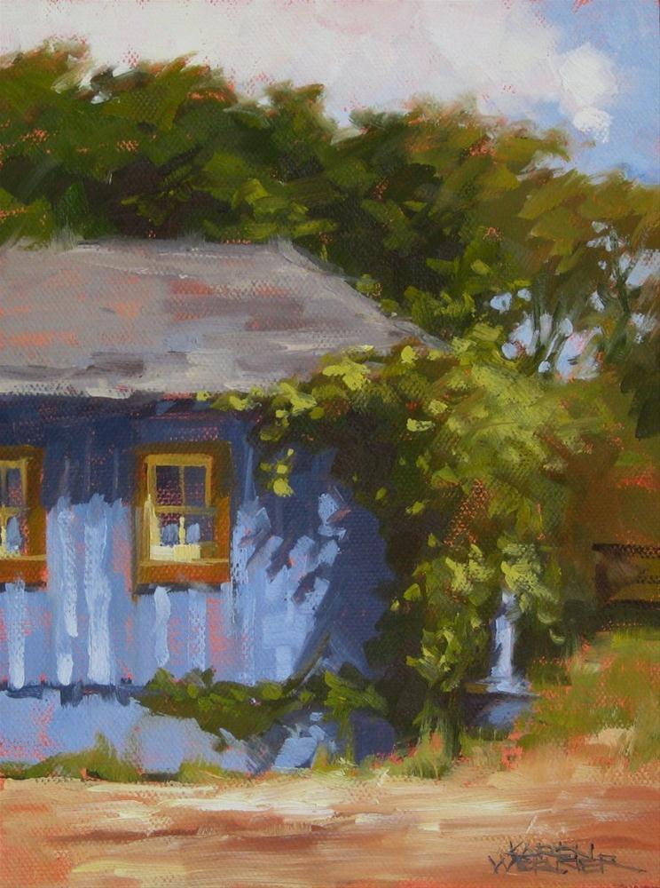 """""""Sunny Day Shed"""" original fine art by Karen Werner"""
