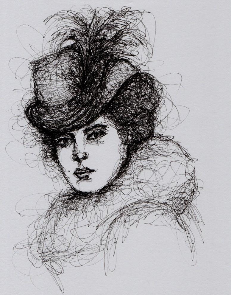 """""""Portrait of Helen"""" original fine art by Roberta Schmidt"""