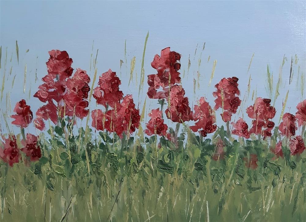 """""""Wildflowers"""" original fine art by Karen Johnston"""