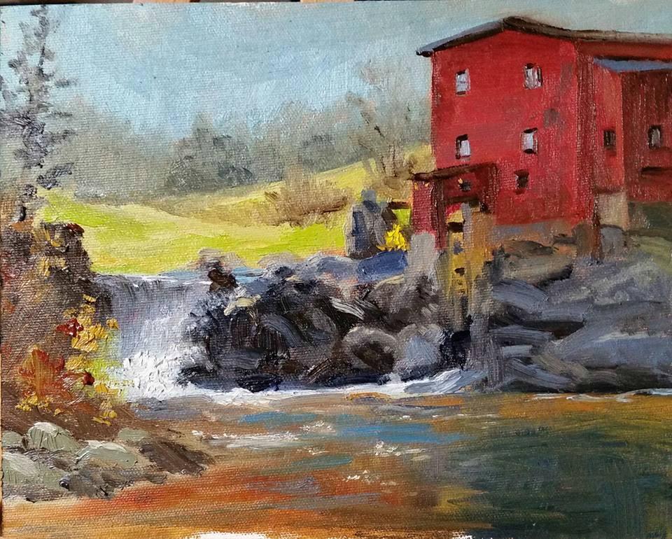 """Dillard Mill#2-en plein air"" original fine art by Veronica Brown"