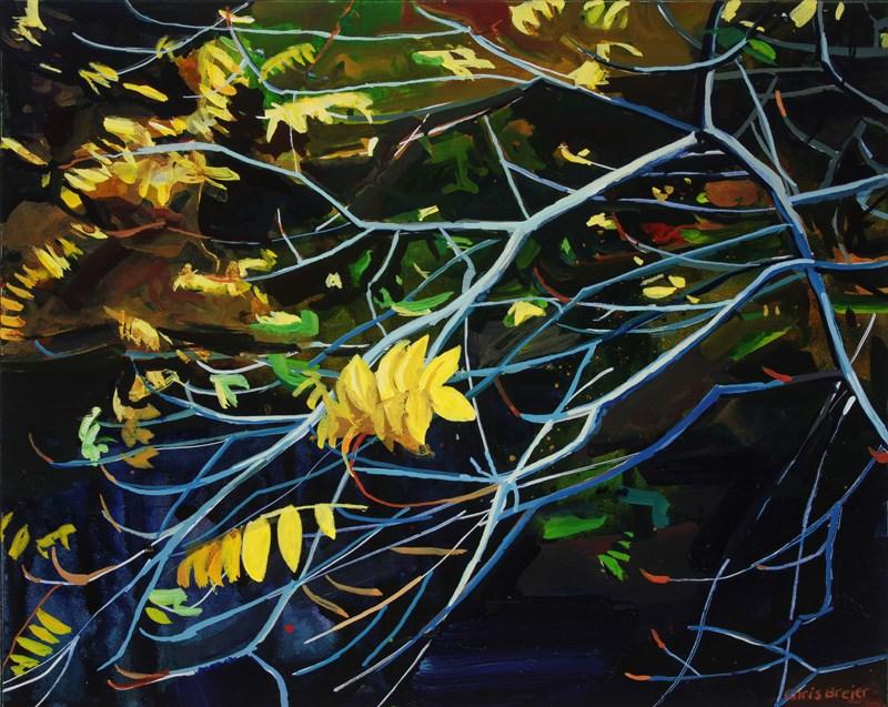 """""""Yellow Leaves I"""" original fine art by Chris Breier"""