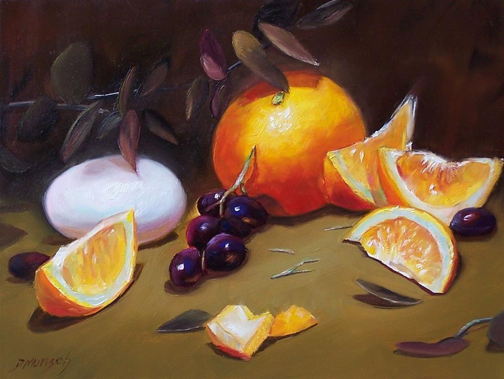 """""""Orange and Egg"""" original fine art by Donna Munsch"""