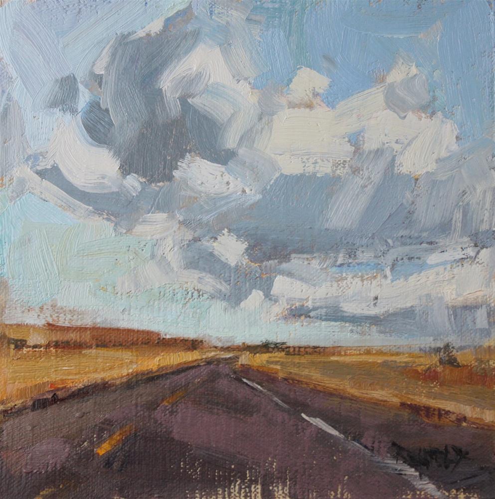 """""""High Desert Clouds"""" original fine art by Cathleen Rehfeld"""