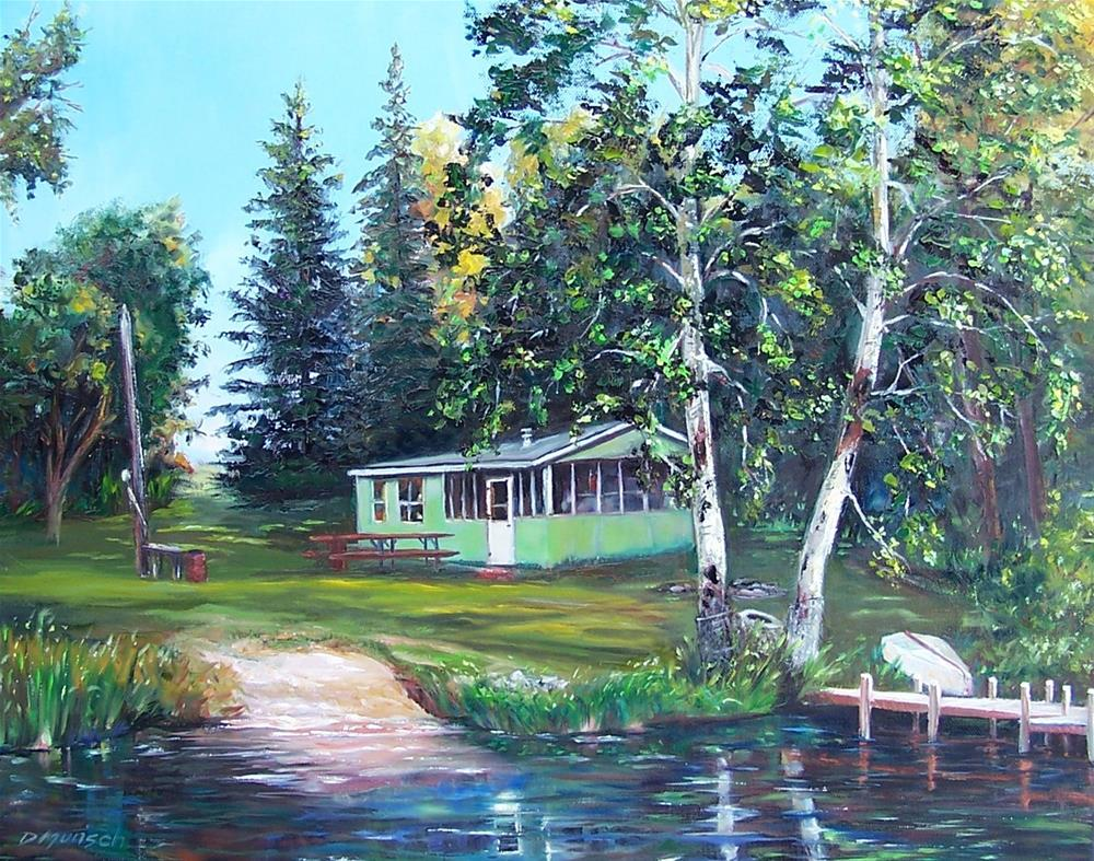 """""""Doc and Mabel's Cottage"""" original fine art by Donna Munsch"""