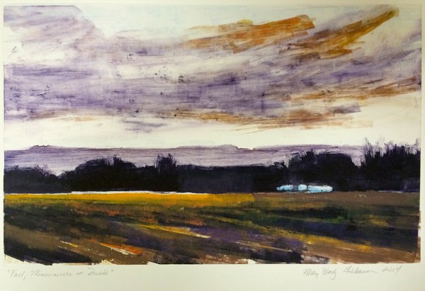 """""""Fall, Minervaville at Dusk"""" original fine art by Mary Gilkerson"""