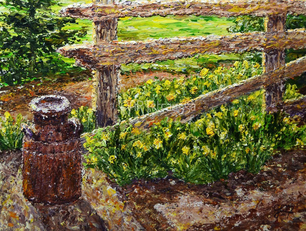 """SALE!!!Daffodil Morning"" original fine art by Gloria Ester"
