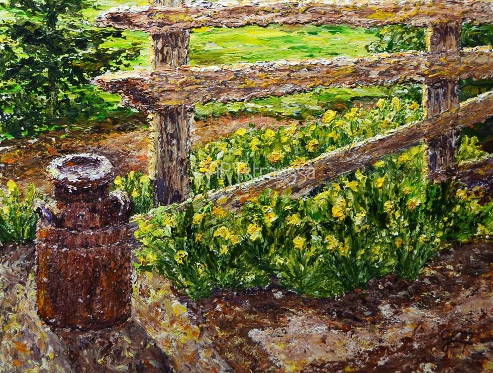 """Daffodil Morning"" original fine art by Gloria Ester"