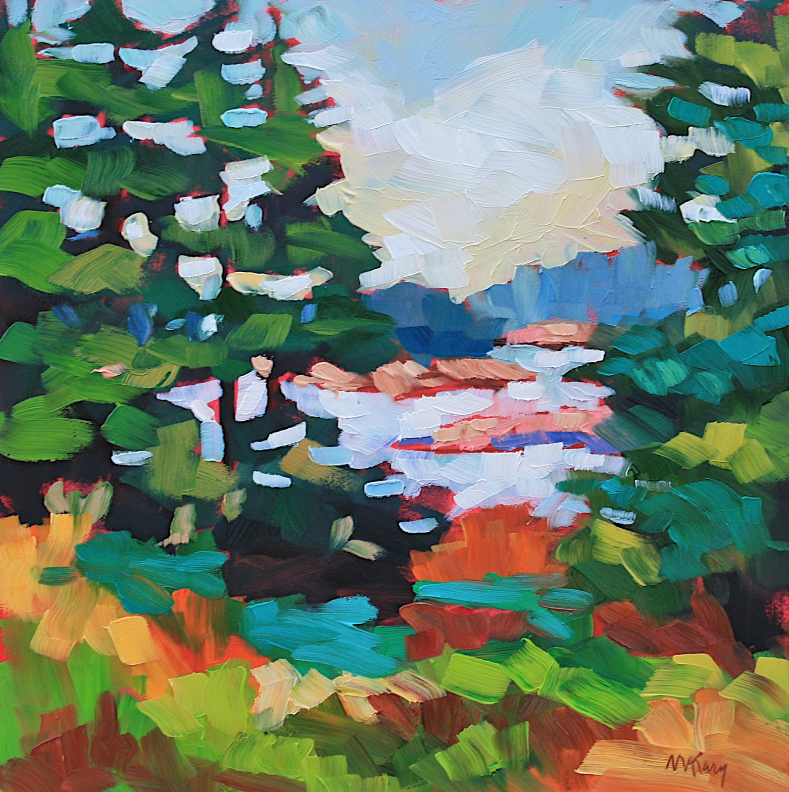 """""""Maine Landscape #18"""" original fine art by Mary Anne Cary"""