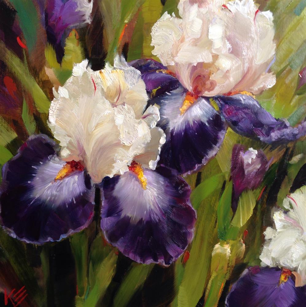 """Iris Garden"" original fine art by Krista Eaton"