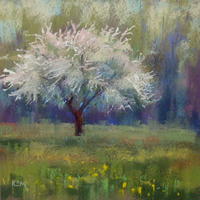 """A Tip for Painting Green Landscapes"" original fine art by Karen Margulis"