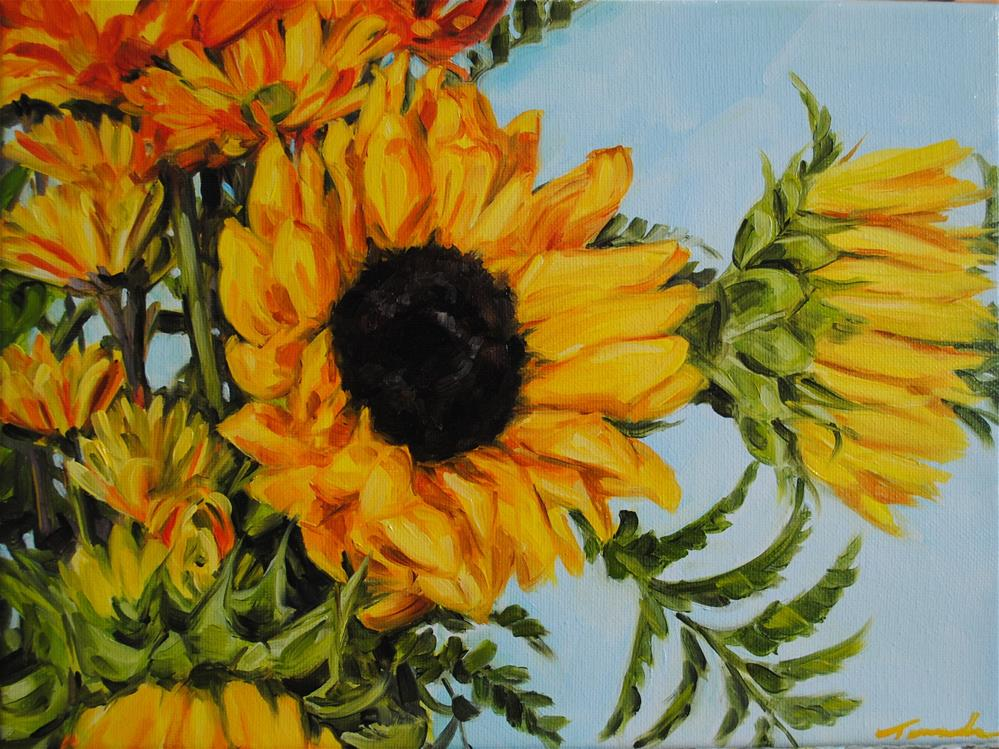 """Sunflowers "" original fine art by Tamanda Elia"