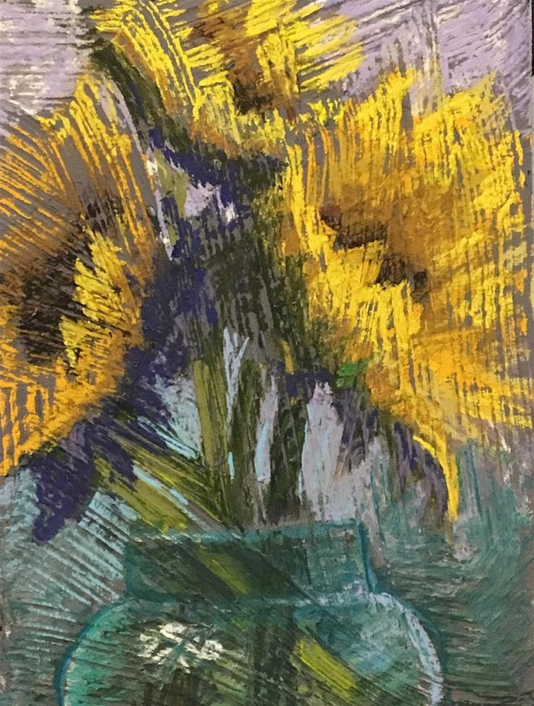 """Sunflower Fun"" original fine art by karen israel"
