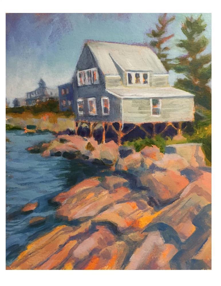 """Cottage at Fish Beach"" original fine art by Suzanne Woodward"
