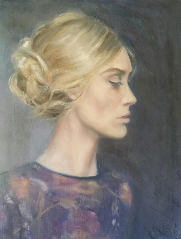 """Her profile"" original fine art by Rentia Coetzee"