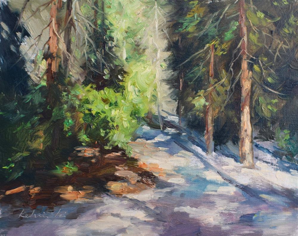 """Beginning of a trail"" original fine art by Kelvin Lei"
