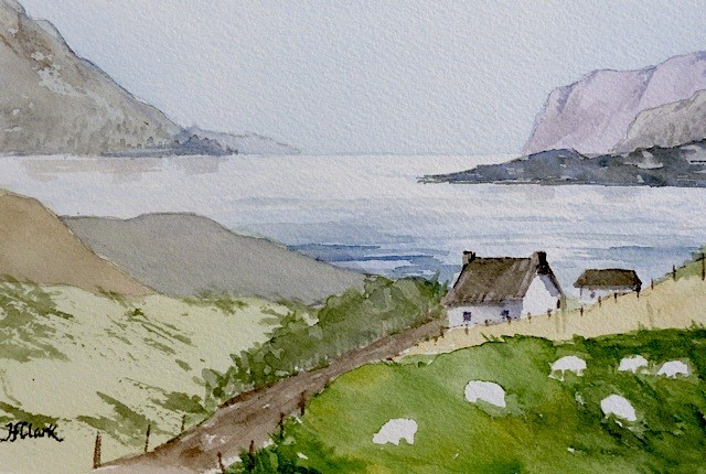 """Spring Lambs"" original fine art by Judith Freeman Clark"