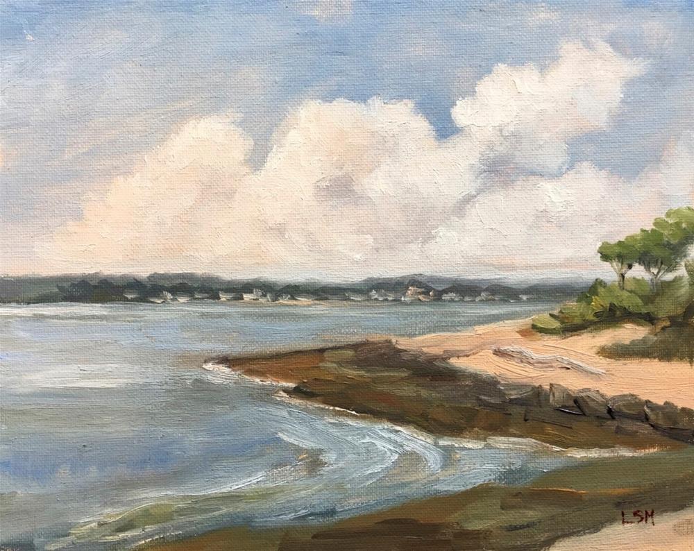 """""""Water's Rising - Thimble Island, Branford, CT"""" original fine art by Linda Marino"""