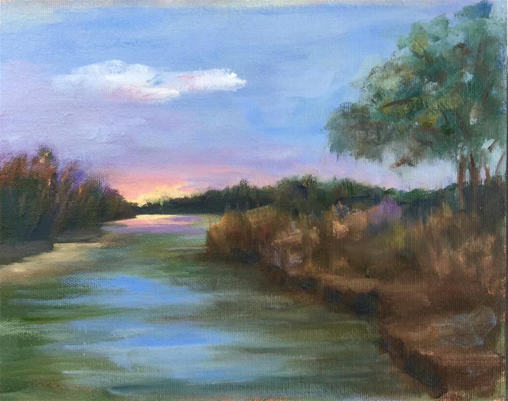"""Sunrise...Sunset"" original fine art by Linda Carney"