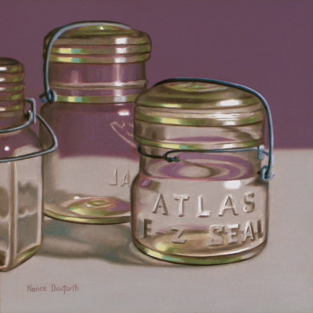 """Atlas Canning Jar"" original fine art by Nance Danforth"