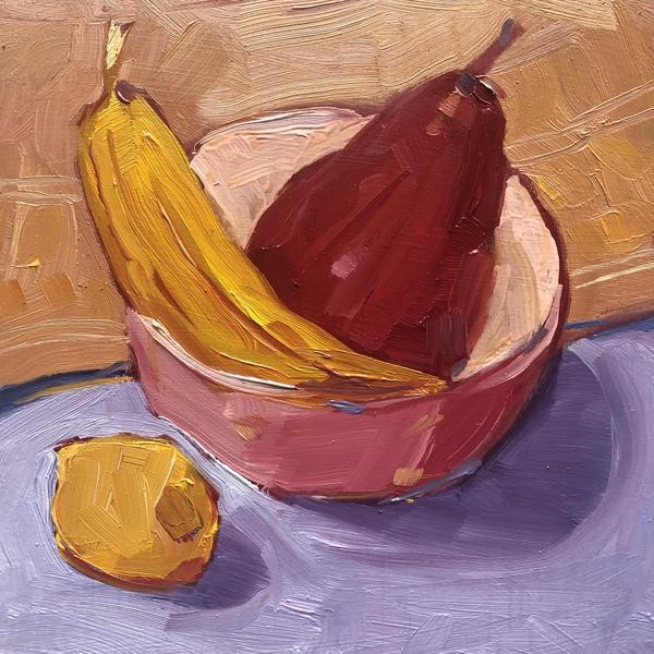 """""""1264: Some of the Fruit is in the Bowl"""" original fine art by Brian Miller"""