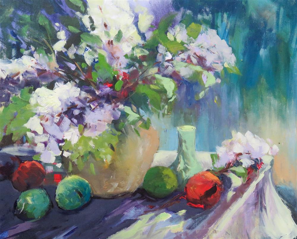 """Florals I"" original fine art by Christa Friedl"