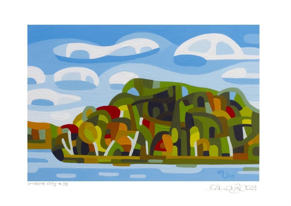 """Landscape Study #33"" original fine art by Mandy Budan"