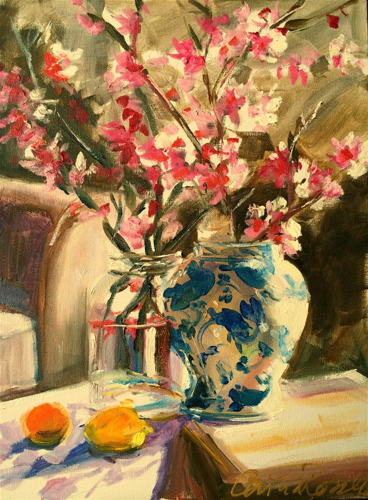"""CHINESE BLOSSOMS"" original fine art by Cecilia Rosslee"