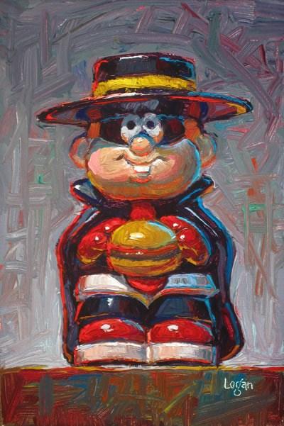 """Portrait of a Burglar"" original fine art by Raymond Logan"