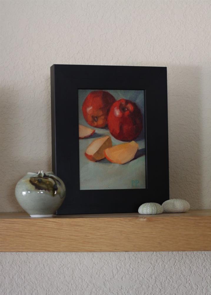 """Apple Slices"" original fine art by Pamela Poll"